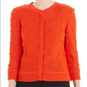 St. John Santana Knit Sweater Petite Orange